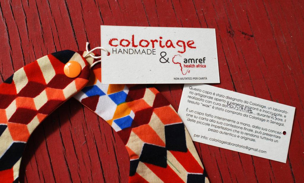 Linea di accessori kids Coloriage per la Onlus Amref Health Africa – Italia
